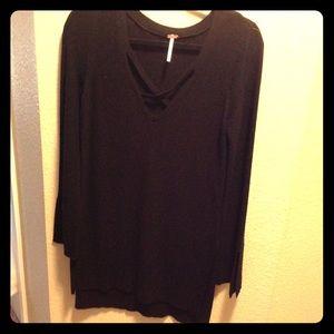 Free People long black Sweater